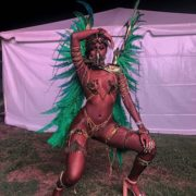 Abihail Myrie Poses In Game of Thrones-Inspired Carnival Costume for Xodus Band Launch