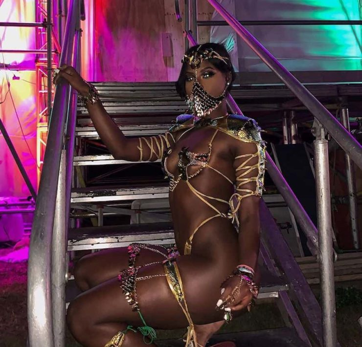 Abihail Myrie Sports Game of Thrones-Inspired Carnival Costume for Xodus Band Launch