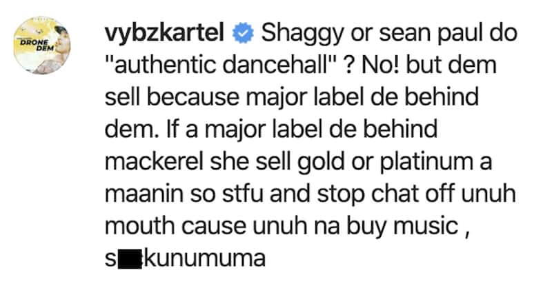Screenshot - Vybz Kartel Says Sean Paul & Shaggy Do Not Make Authentic Dancehall Music
