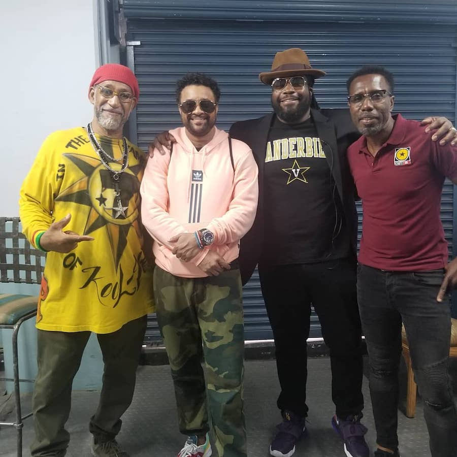 Shaggy and Gramps Morgan with Dj Kool Herc and ONSTAGE host Winford Williams
