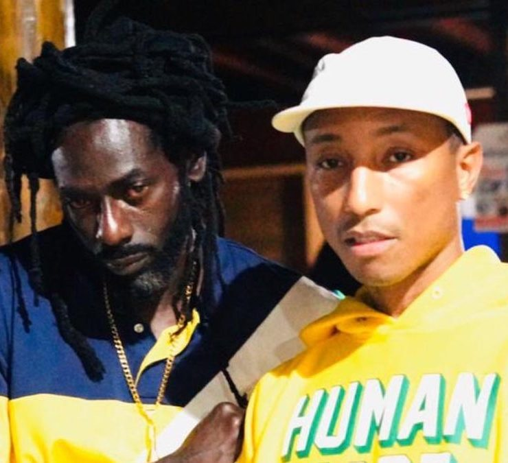 Pharrell Williams Recording New Music With Buju Banton In Jamaica
