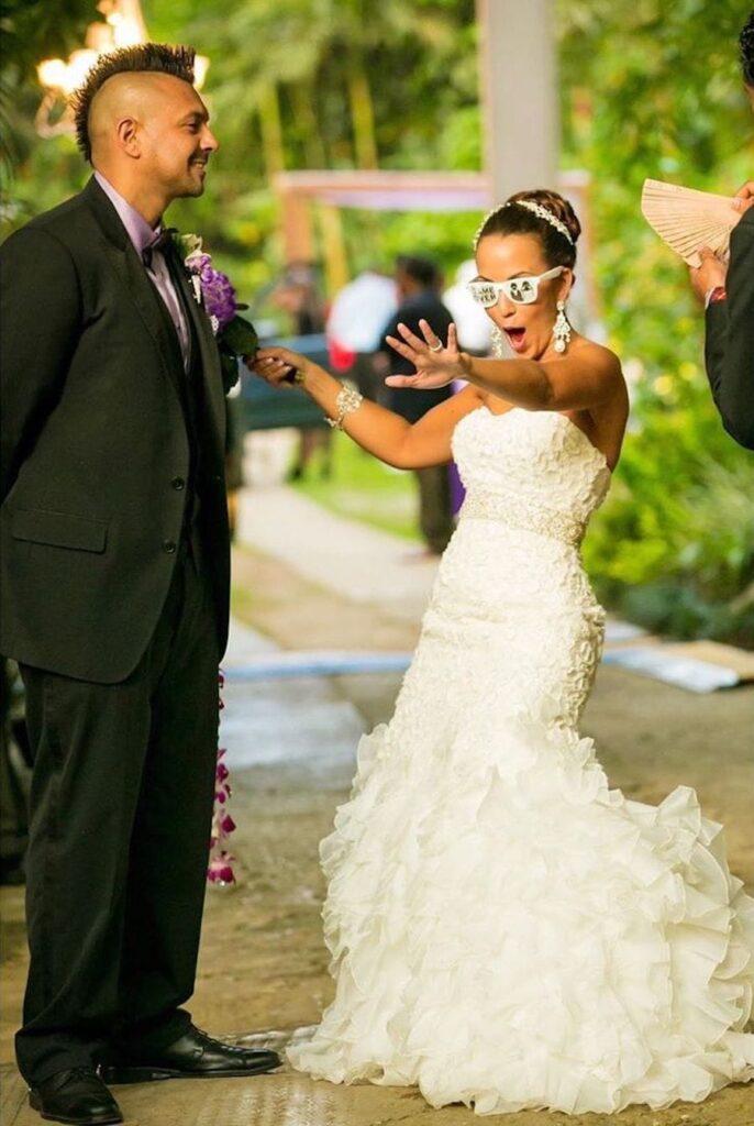 Sean Paul's Wife Jinx Shares Funny Wedding Photo To Celebrate 8th Weddig Anniversary