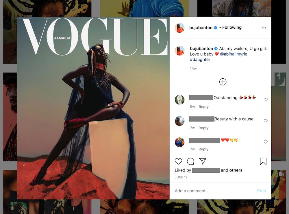 Buju Banton Congratulates His Daughter Abihail Myrie Forn Teen Vogue Feature