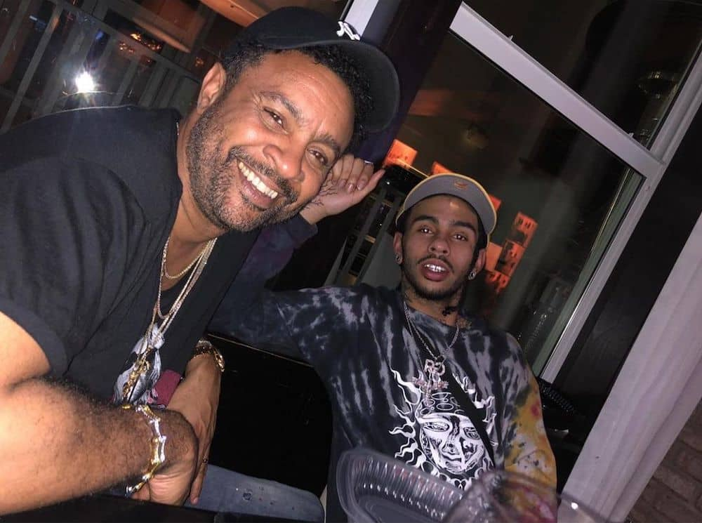 Shaggy with his son Robb Banks