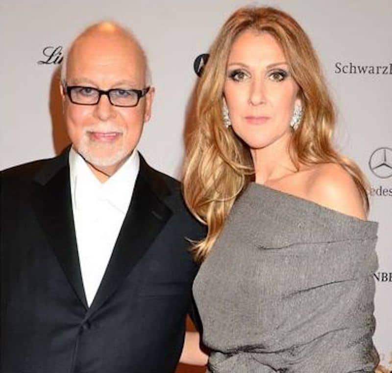 Celine Dion with late husband Rene Angelil in 2012