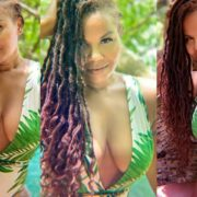 Jamaican Artiste Cecile Shows Off Her Swimsuit Body At Blue Lagoon In Jamaica