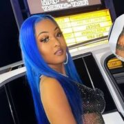 Shenseea Sports Sparkly See-Through Crop Top And Short Skirt Outfit